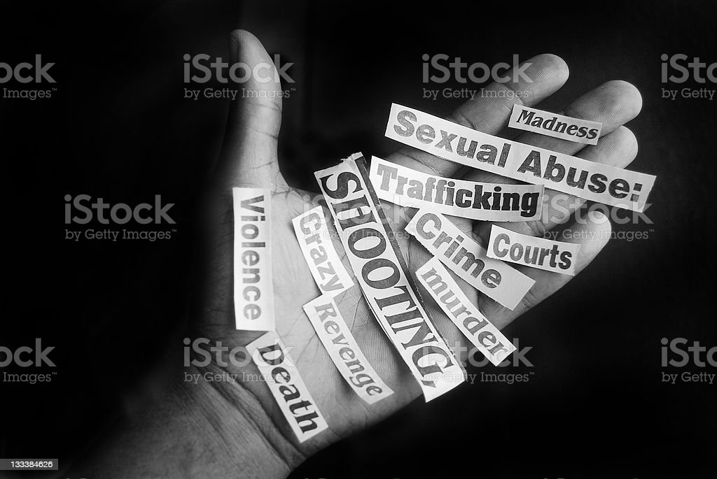 crime and violence concept royalty-free stock photo