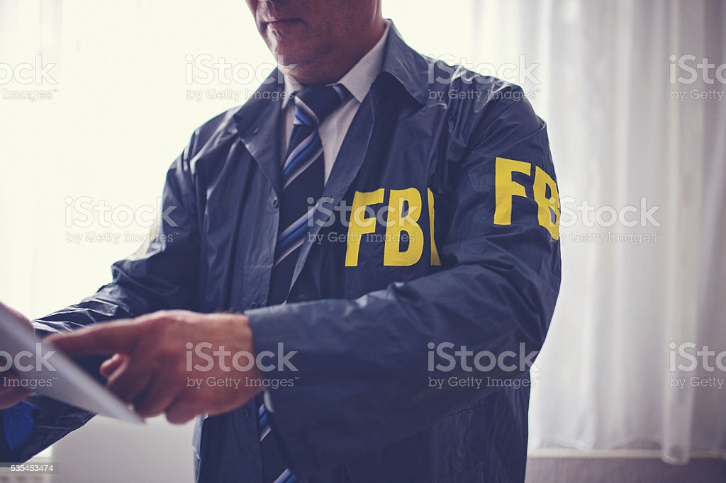 Crime fighting FBI stock photo