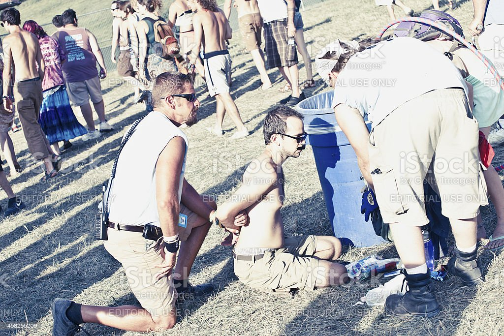 Crime in Music Festival stock photo