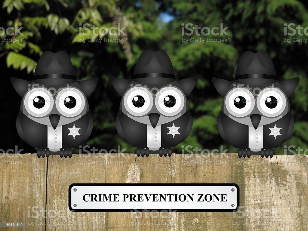 Crime prevention Zone USA stock photo