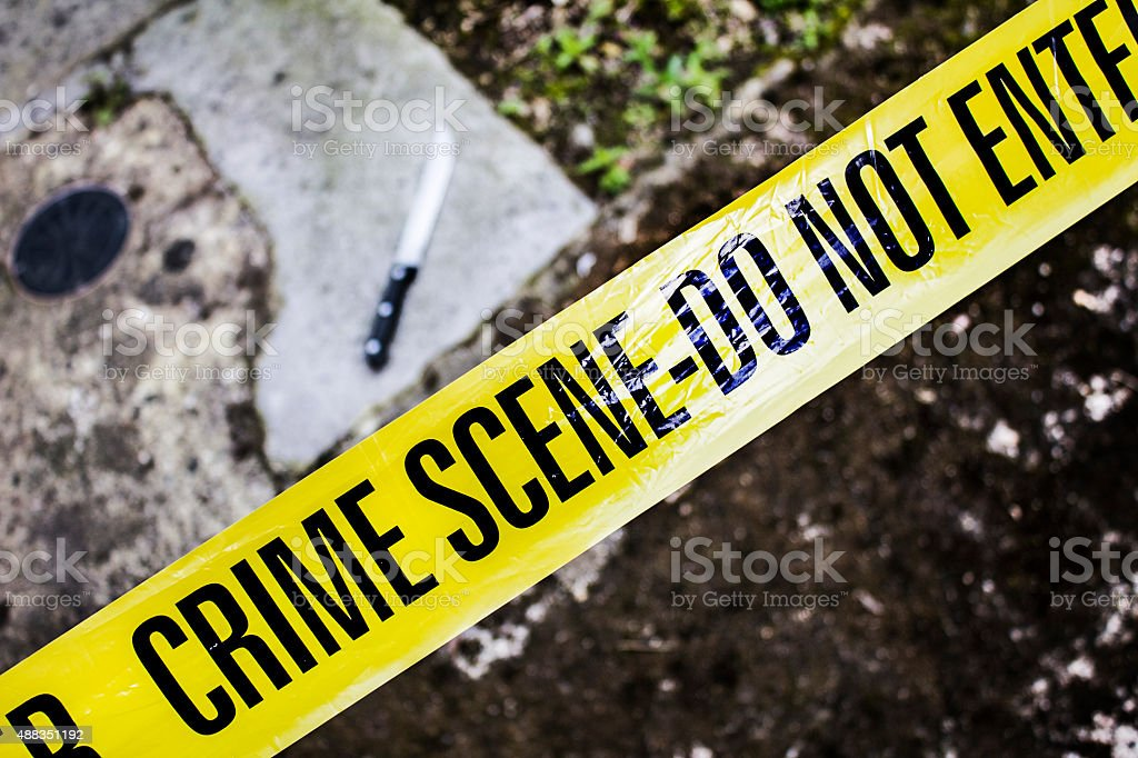 Crime Scene 14 stock photo