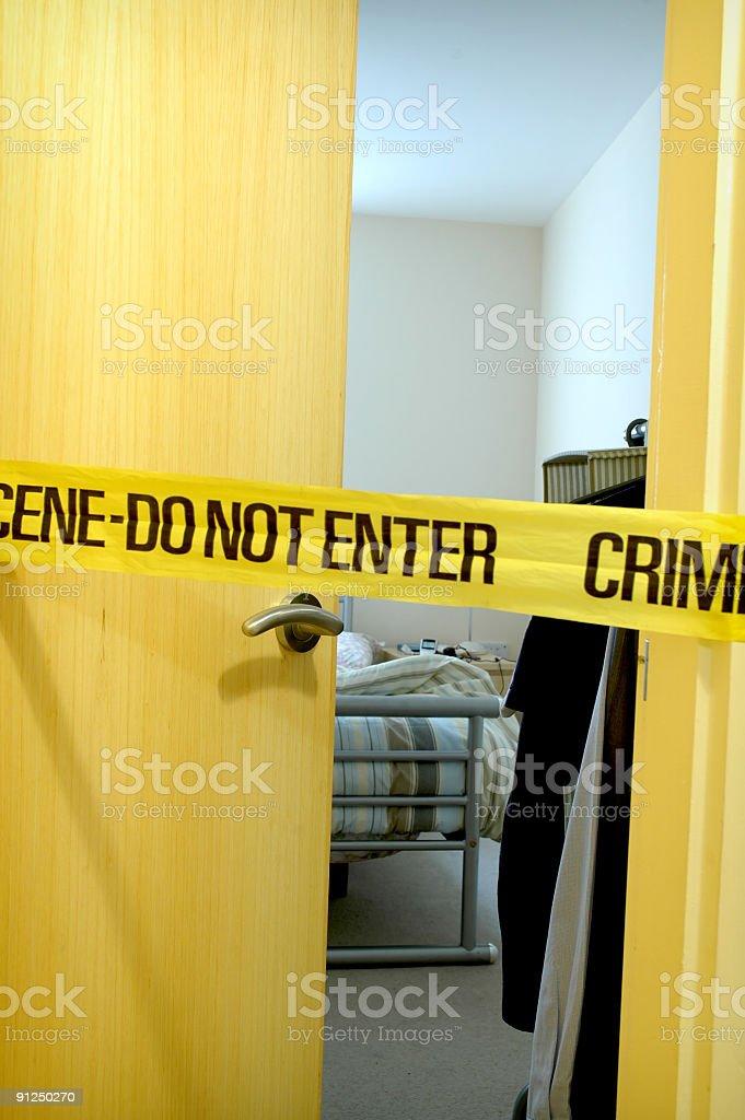 Crime scene 2 stock photo