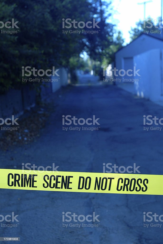 Crime Scene Alley royalty-free stock photo