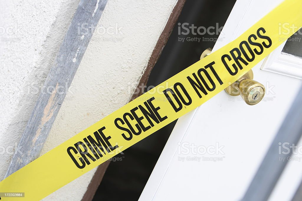 Crime Scene and door royalty-free stock photo