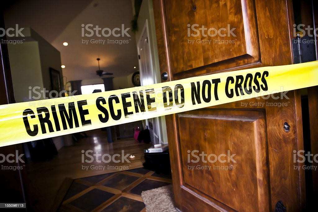 Crime Scene at Residential Home stock photo