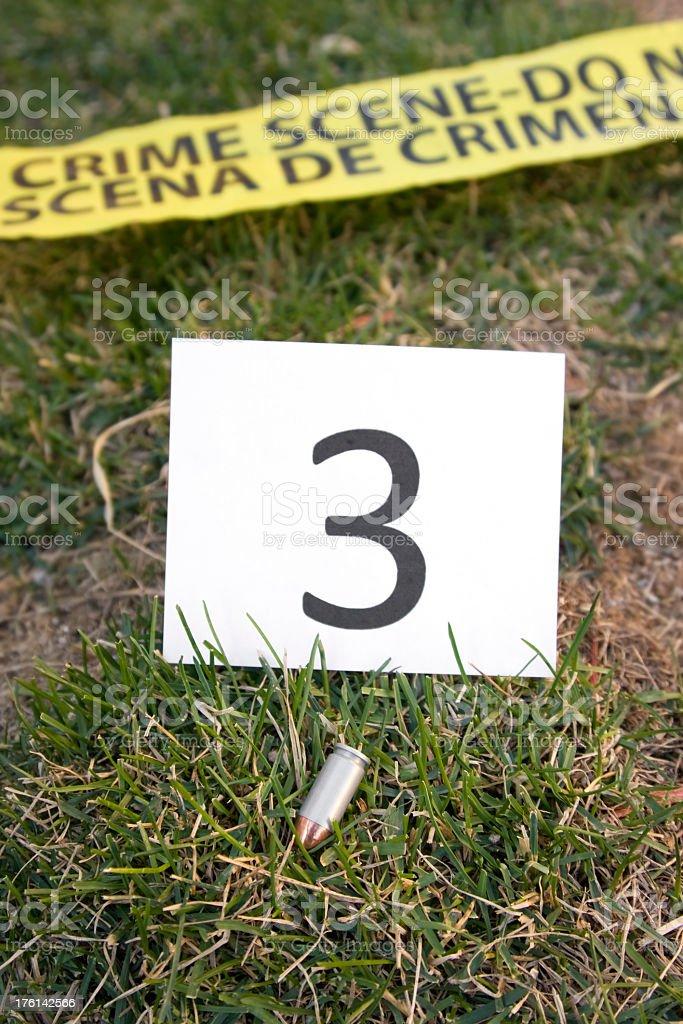 Crime Scene Bullet Evidence royalty-free stock photo