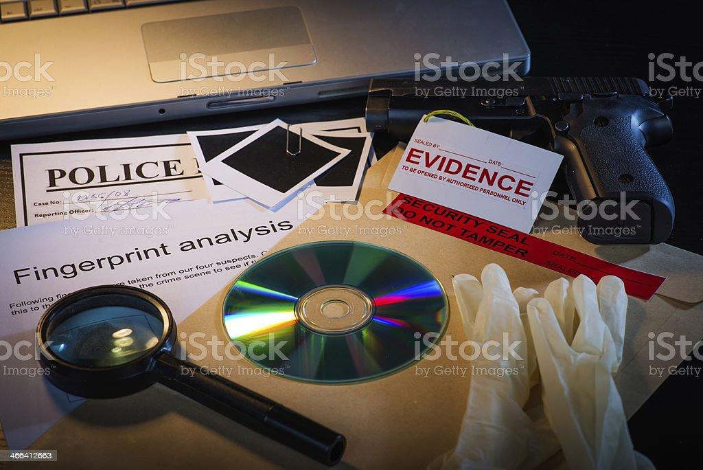 Crime scene case files stock photo