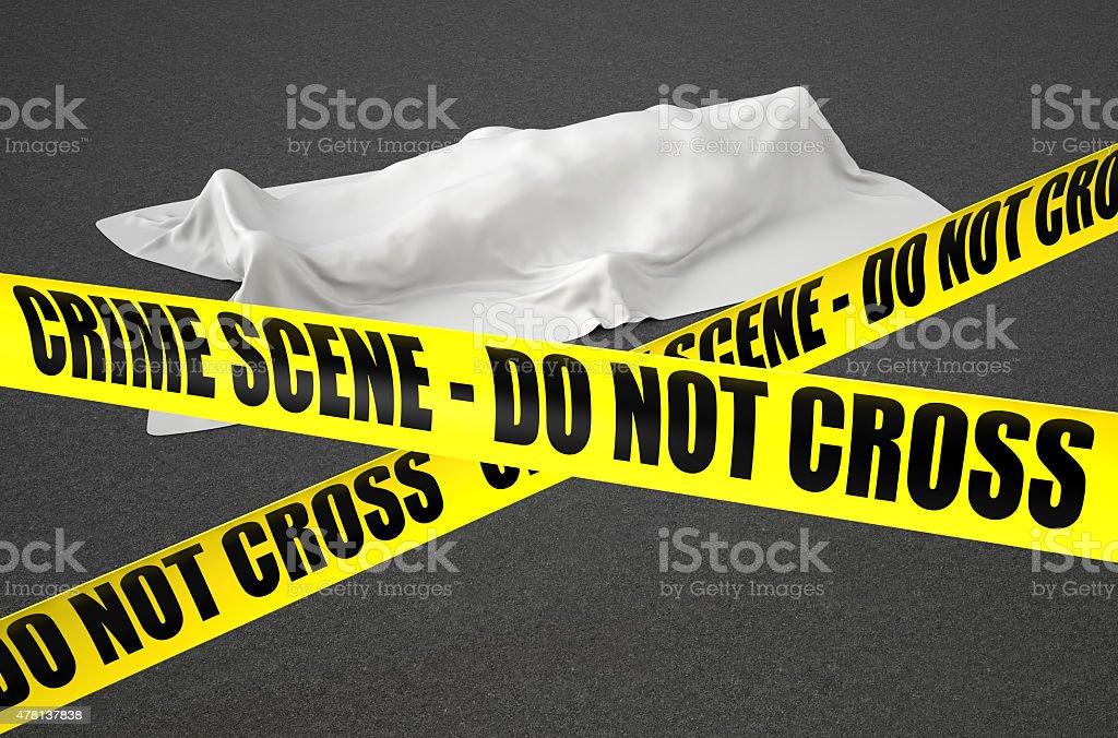crime scene concept stock photo