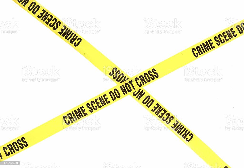 Crime Scene Do Not Cross royalty-free stock photo