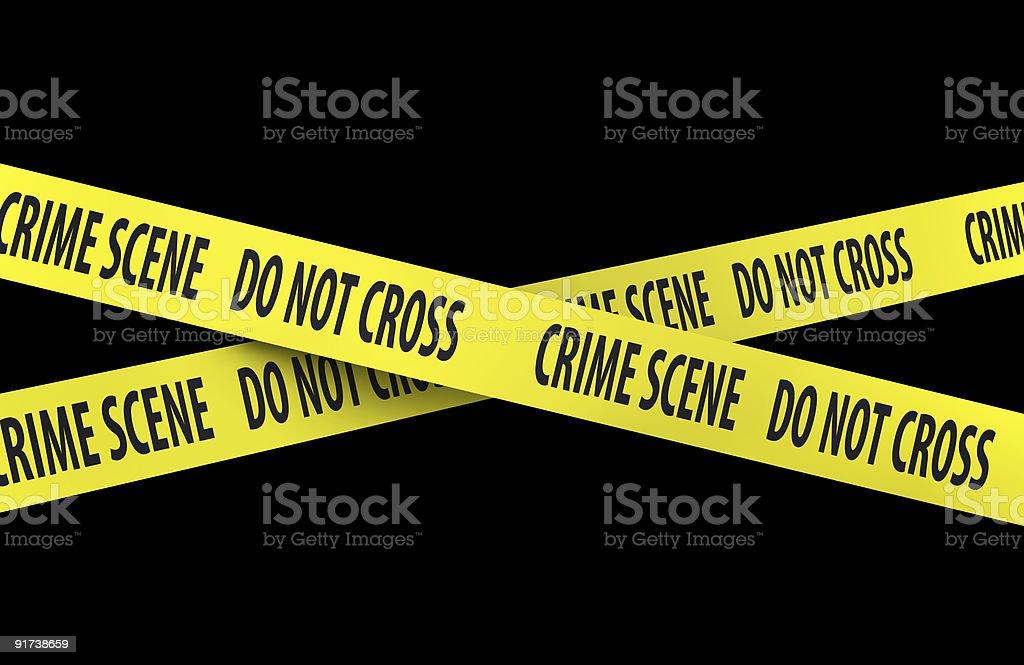 Crime scene, do not cross. royalty-free stock photo