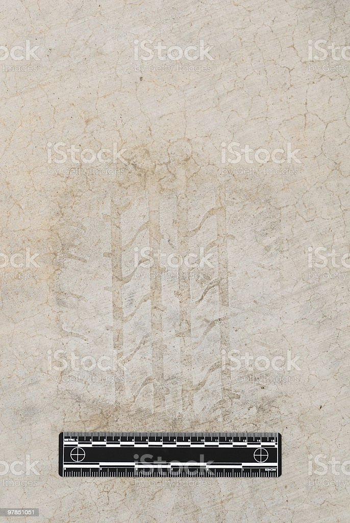 'Crime Scene' Evidence Photo royalty-free stock photo