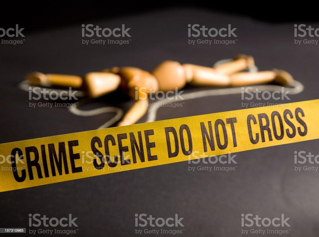 Crime Scene Figure royalty-free stock photo