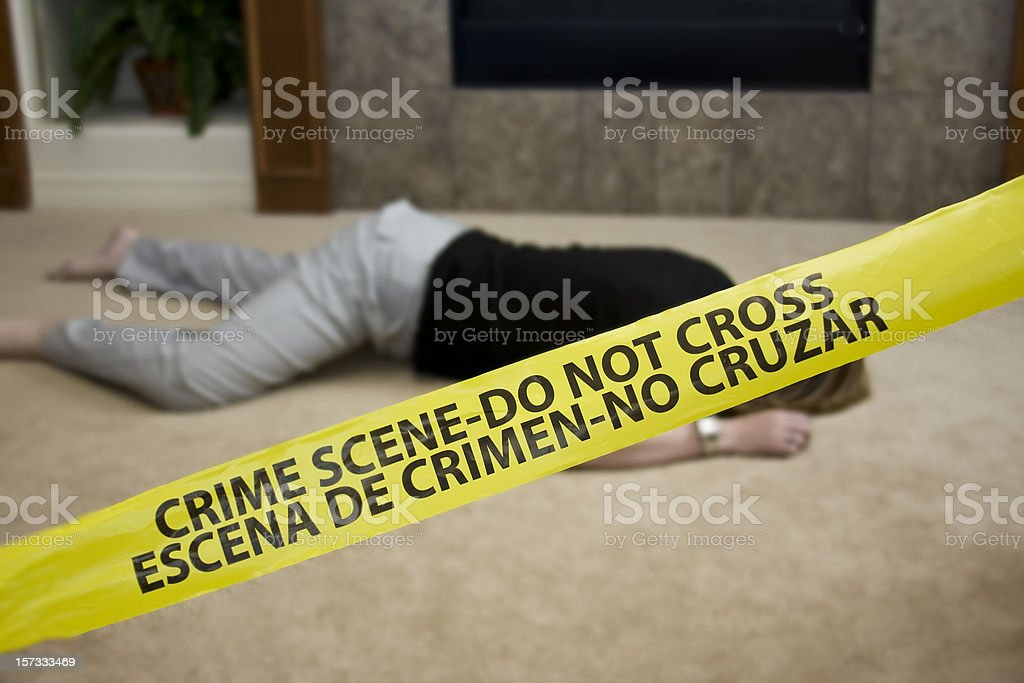 Crime Scene Homicide royalty-free stock photo