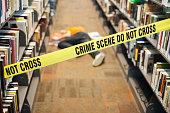 Crime Scene in Library