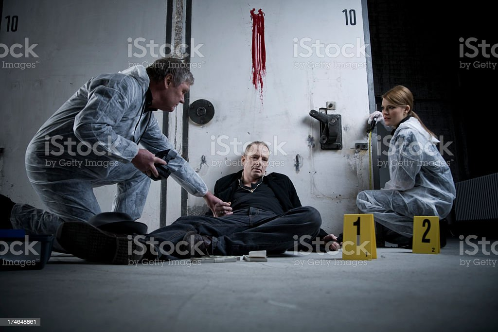 Crime Scene Investigation royalty-free stock photo