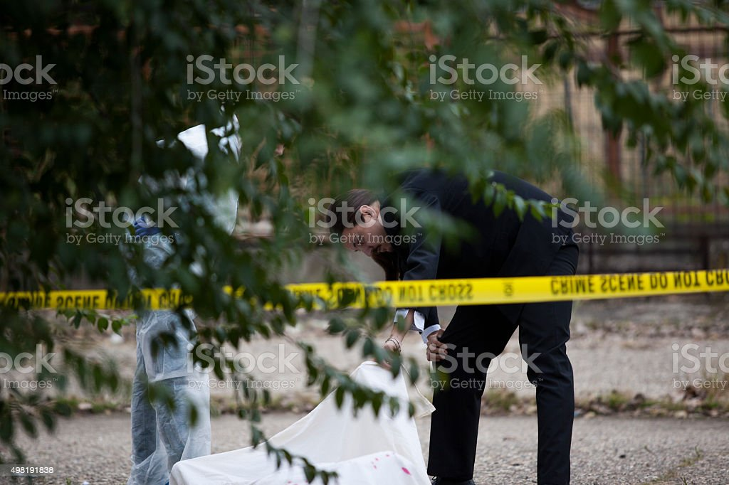 Crime Scene Investigation stock photo