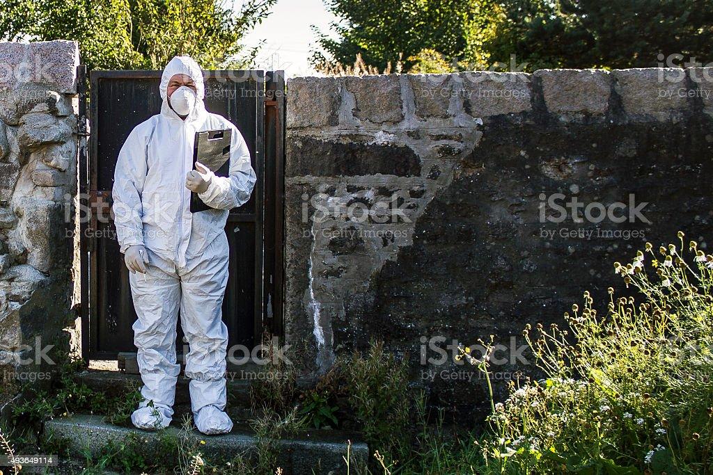 Crime Scene Investigator stock photo