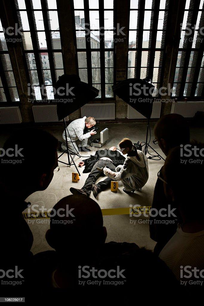 Crime Scene Investigators at Murder royalty-free stock photo