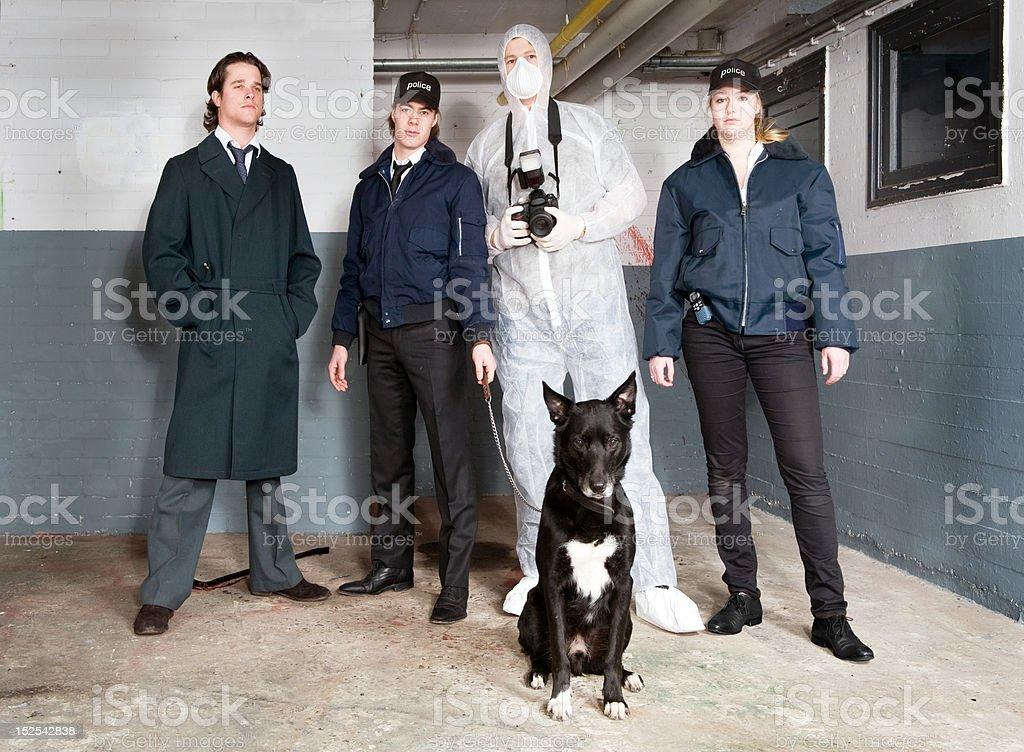 Crime Scene Investigators stock photo