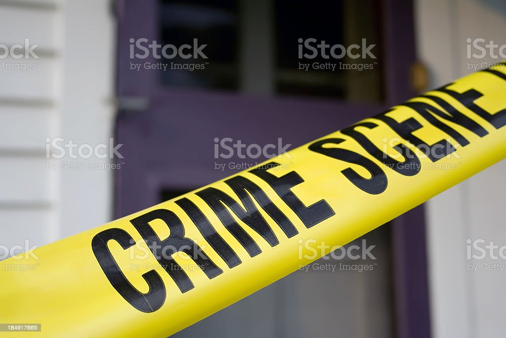 Crime Scene Morning Detail royalty-free stock photo