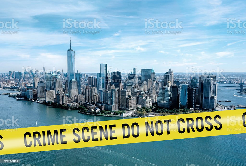 Crime scene New York city stock photo