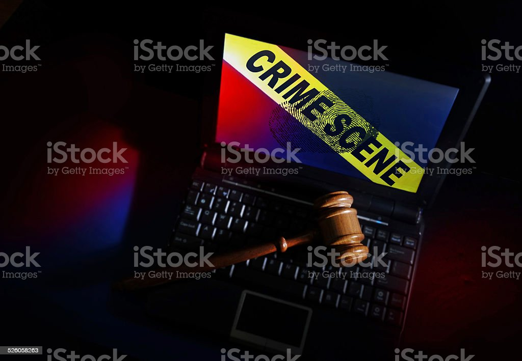 Crime scene PC stock photo