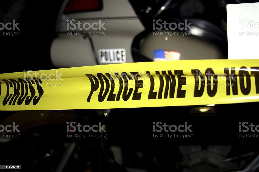 Crime Scene Photo: Police Line Do Not Cross royalty-free stock photo