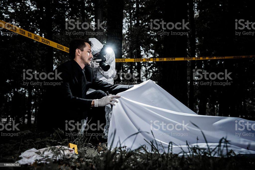 Crime scene royalty-free stock photo