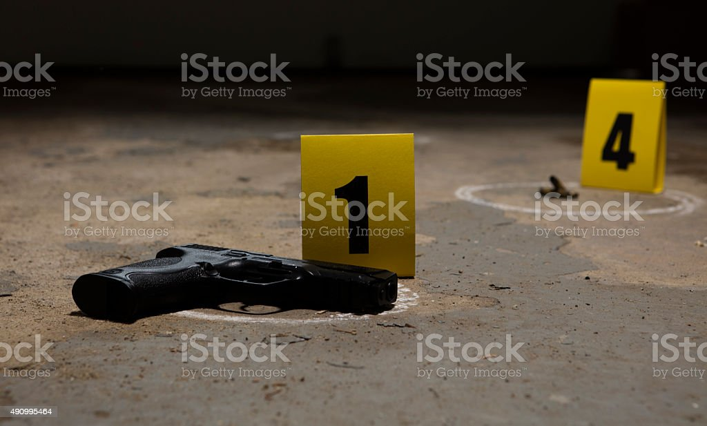 Crime Scene stock photo