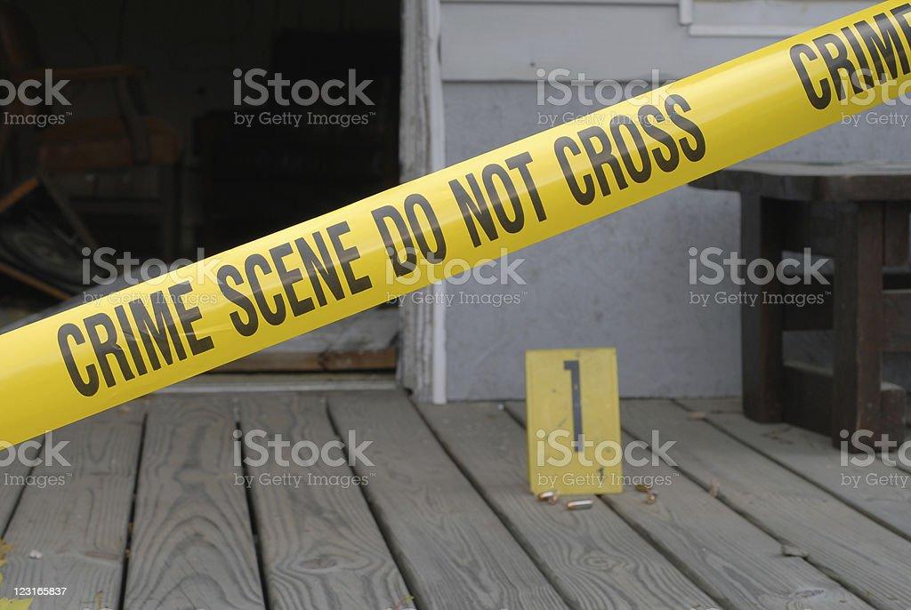 Crime scene porch royalty-free stock photo