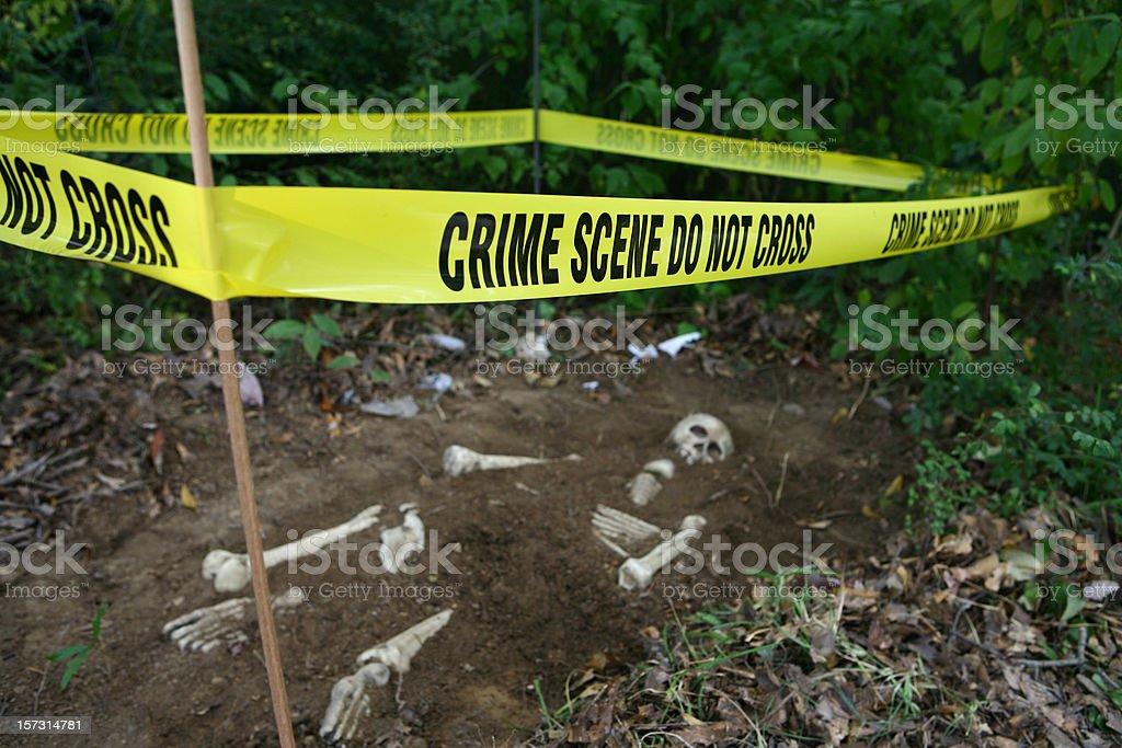 Crime Scene Skeleton royalty-free stock photo