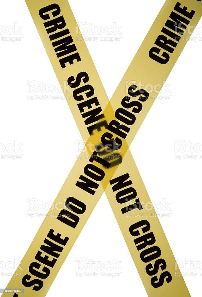 Crime scene tape in x shape royalty-free stock photo