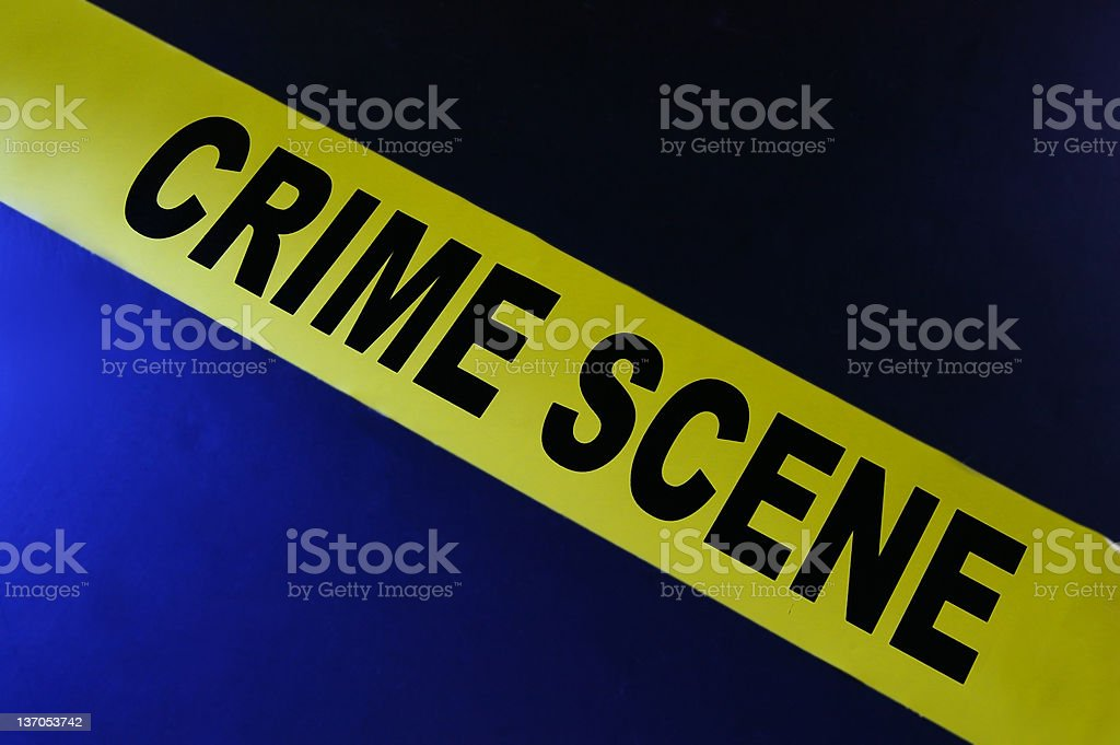 Crime scene tape royalty-free stock photo