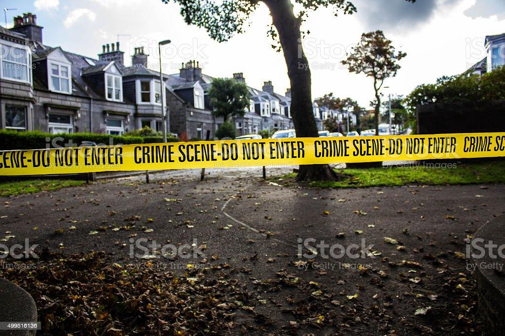 Crime Scene Tape stock photo