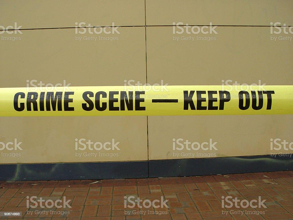 Crime scene tape royalty-free stock photo