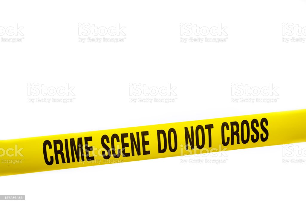 Crime Scene Tape with Clipping Path royalty-free stock photo