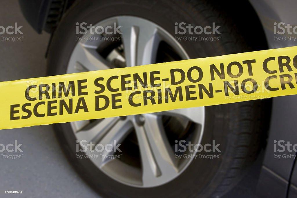 Crime Scene - Vehicle stock photo