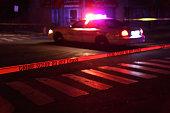 Crime Scene with Police Car