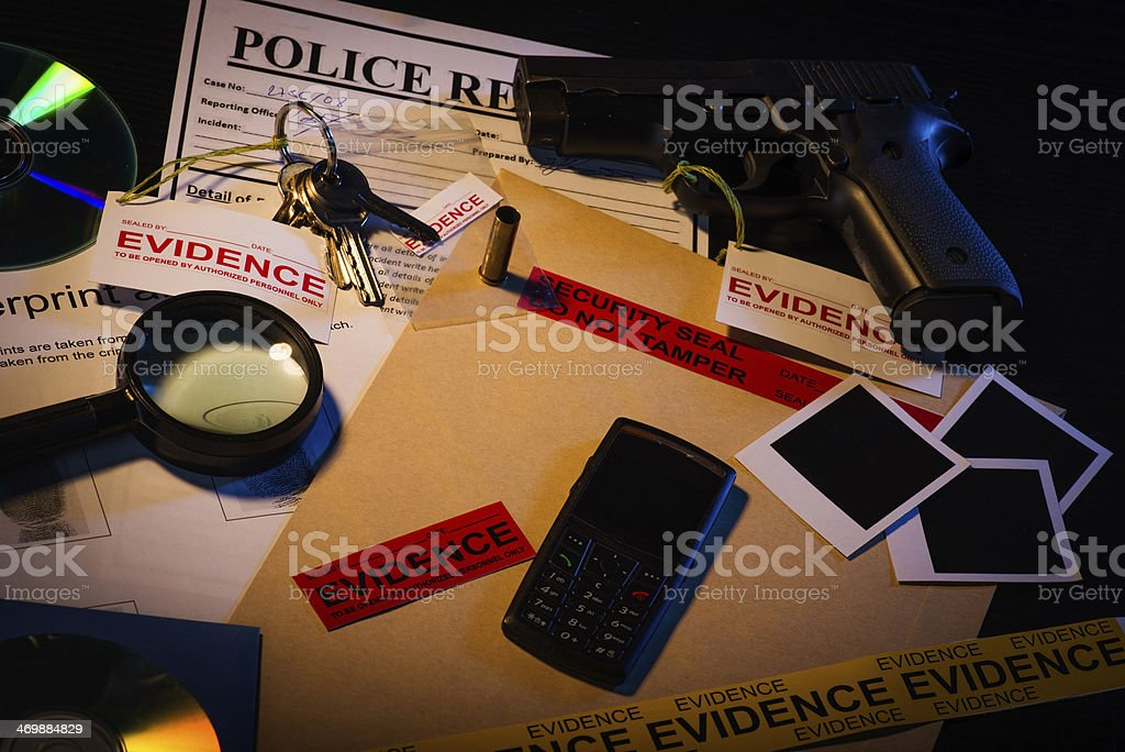 Crime solved stock photo
