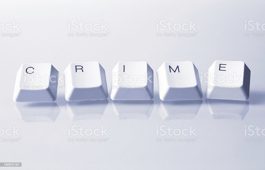 Crime Word with Keys royalty-free stock photo