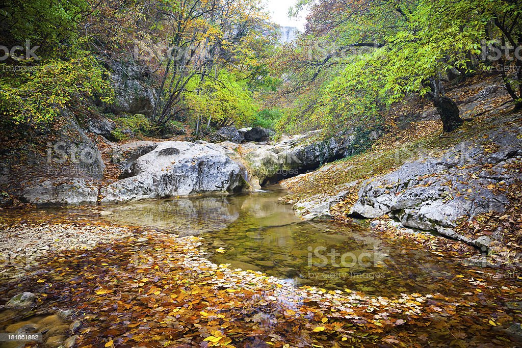 Crimea lake stock photo