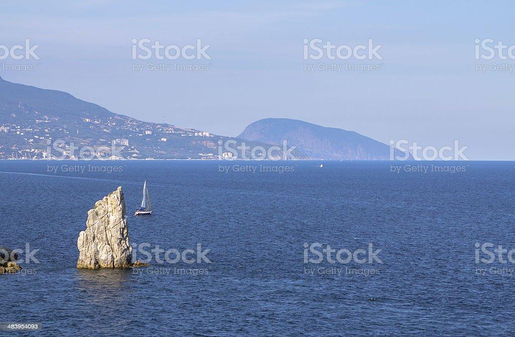 Crimean nature landscape stock photo