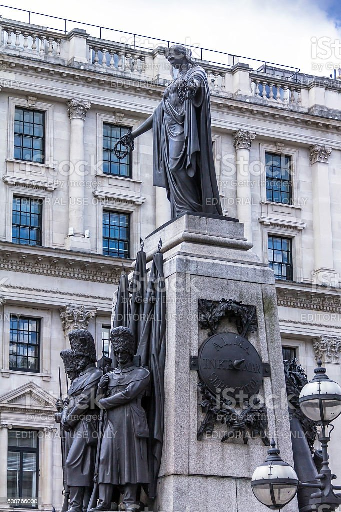 Crimean War Memorial .London. stock photo