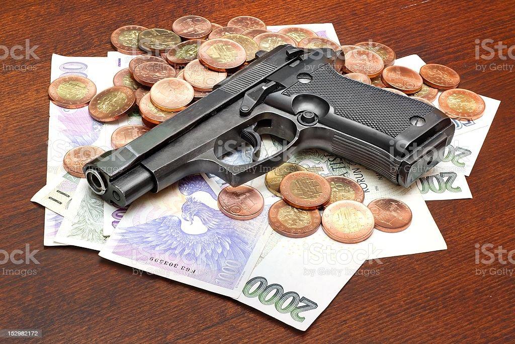 Criminal activity royalty-free stock photo