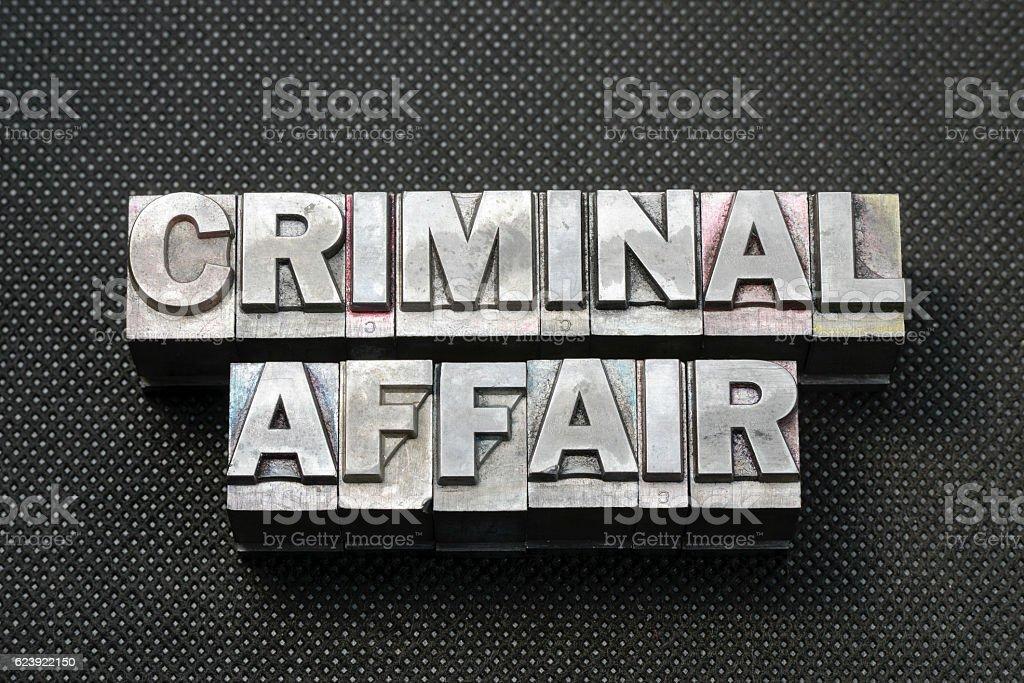 criminal affair bm stock photo