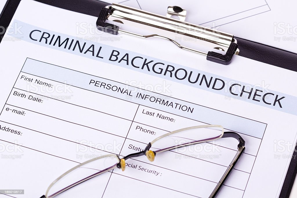 Criminal Background Check royalty-free stock photo
