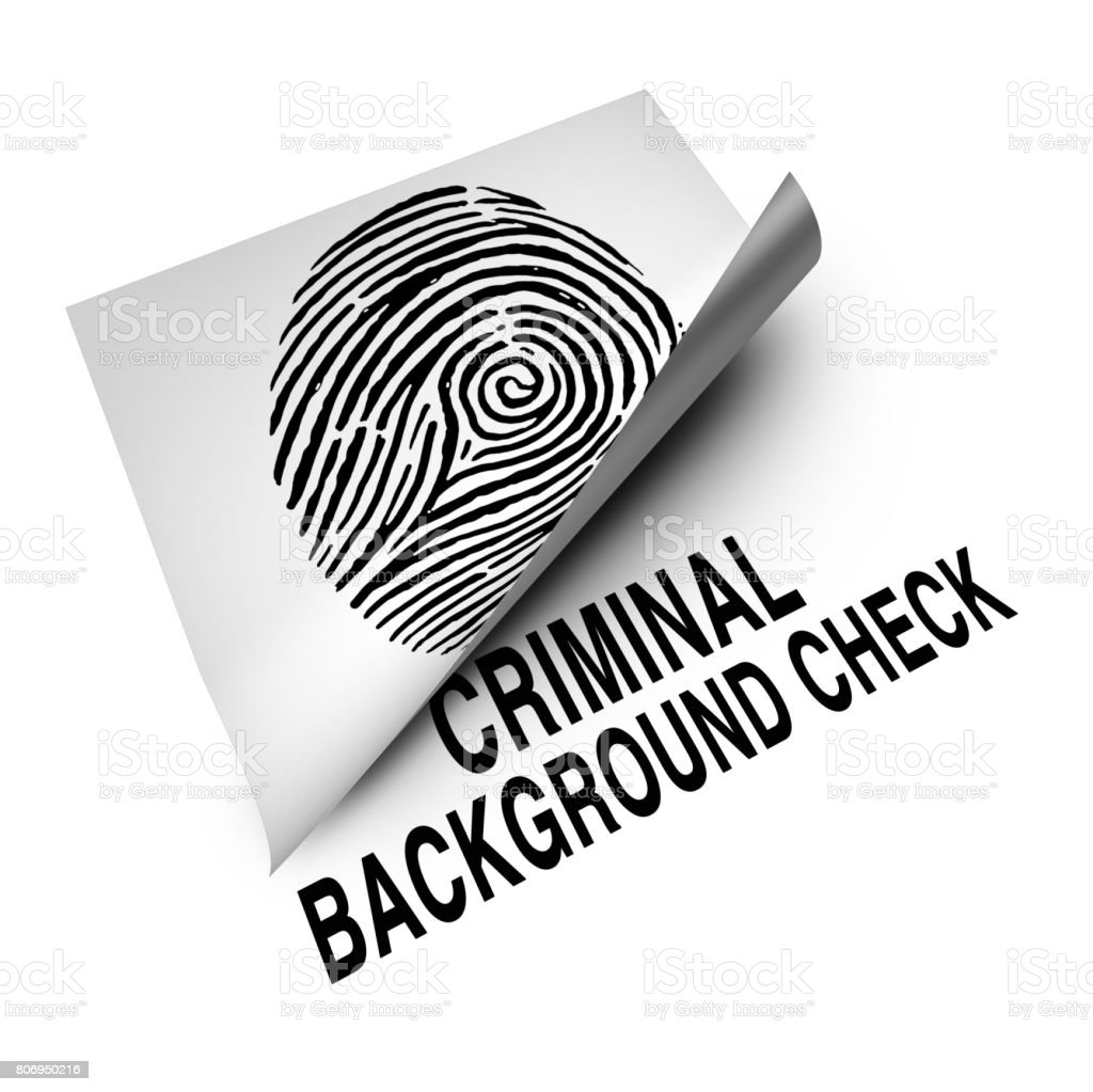 Criminal Background Check stock photo