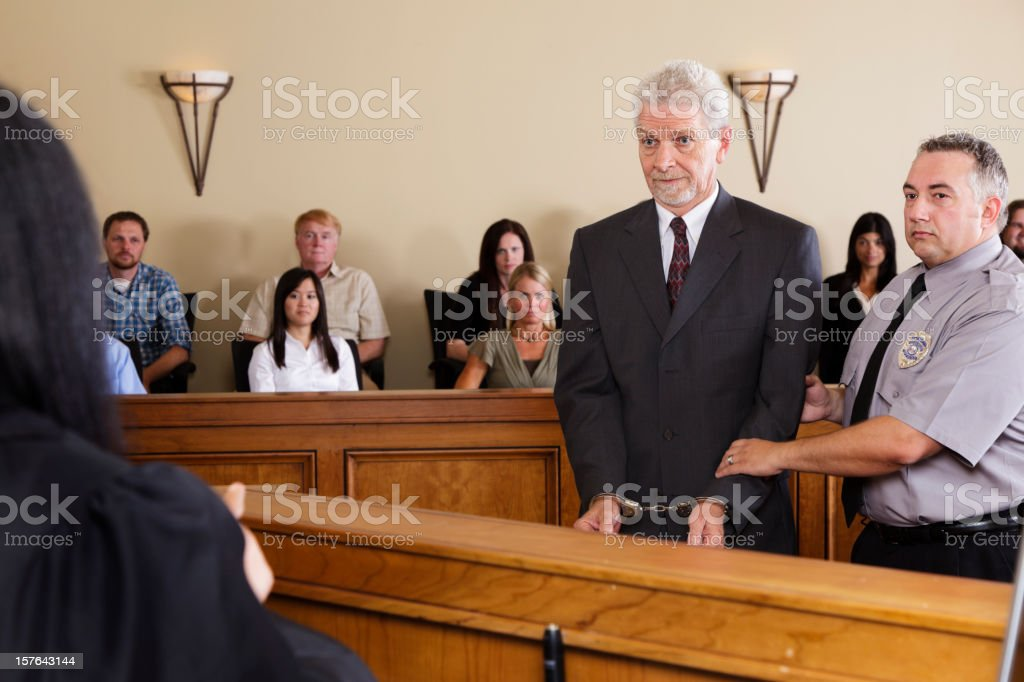 Criminal Defendant in Court royalty-free stock photo