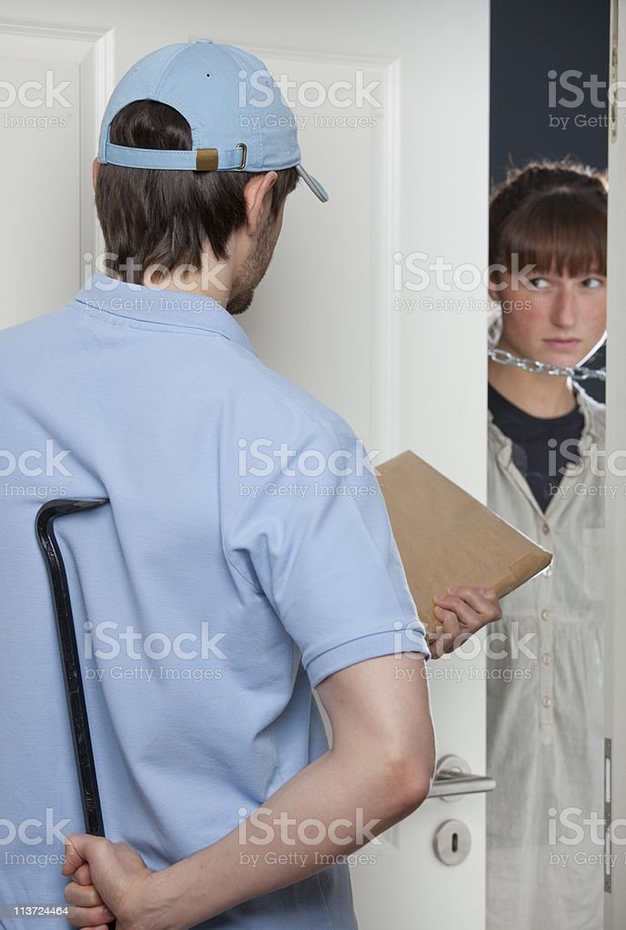 criminal delivery man royalty-free stock photo