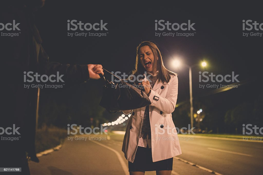 Criminal in action stock photo